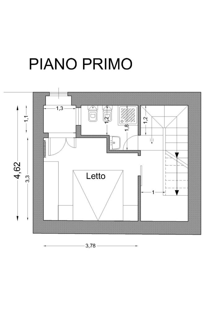 B самом сердце характерного исторического центра Санта Агата ди Готи (BN) в нескольких шагах от Собора продаются апартаменты со смежной стеной около 90 кв.м. (6/6)