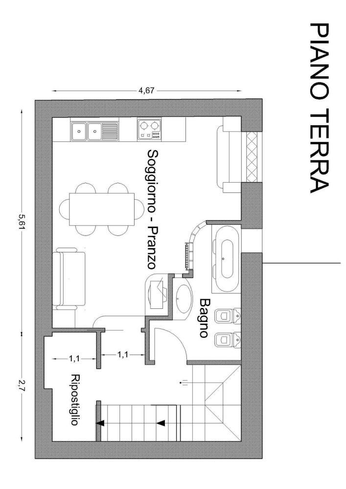 B самом сердце характерного исторического центра Санта Агата ди Готи (BN) в нескольких шагах от Собора продаются апартаменты со смежной стеной около 90 кв.м. (4/6)